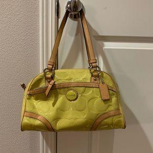 Coach handbag Shoulder bag purse yellow